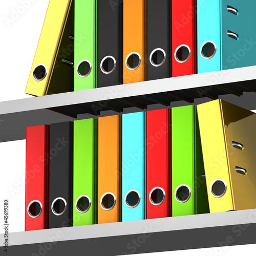 aktenordner regal bunt stockfotos und lizenzfreie bilder auf bild 45699380. Black Bedroom Furniture Sets. Home Design Ideas
