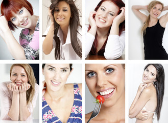 Compilation of smiling women