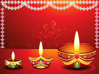 abstract diwali background with flower