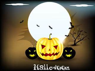 abstract halloween background with moon