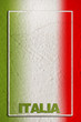 Italian flag on grunge background