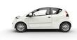 Compact White Car