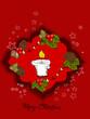 Advent, Weihnachten Karte mit Kerzen