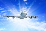 Fototapeta Samolotem - podróż - Samolot