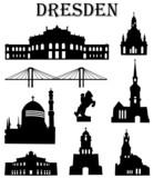 Fototapety Dresdner Wahrzeichen Set