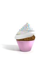 cupcake blanc
