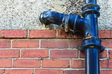 Toilet waste pipe in need of repair