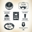 Label set for restaurant, cafe and bar