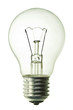 incandescent bulb isolated on pure white background