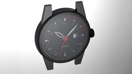 Orologio con cassa nera
