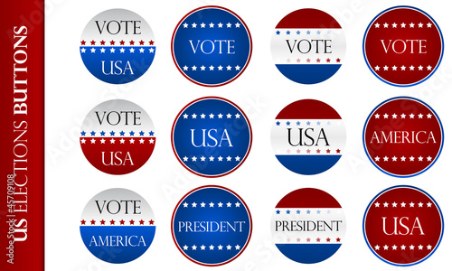 US elections Buttons