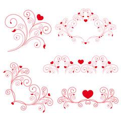 vector set: elegant elements and page decoration