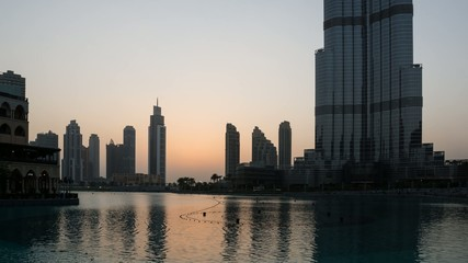 Dubai Sunset with Burj Khalifa