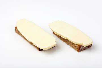 Sliced ​​bread with butter