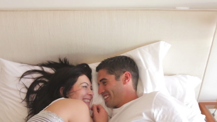 Woman Waking Sleeping Husband