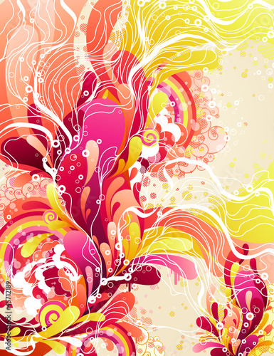 Colorful candies splash. Abstract vector illustration.