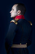 man wearing military jacket 19th century Spanish army, call of d