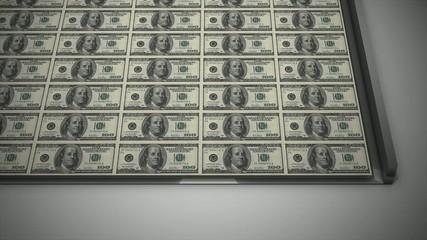 Printing the dollar.