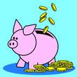 tirelire, argent, économie, fortune, fric, trésor, or