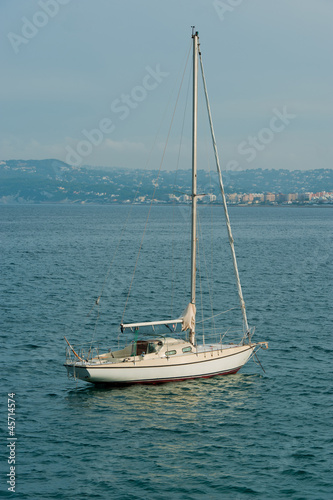 Sailboat anchored