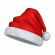 3d render of a santa hat isolated in white background