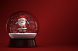 3D Render of snow globe with Santa Claus