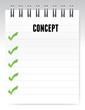 concept notepad illustration design