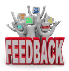 Pleased Satisfied Customers People Giving Positive Feedback