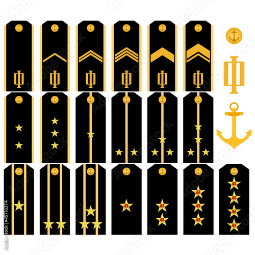 Shoulder straps of the Navy of the Russian Army