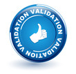 validation sur bouton bleu