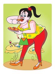 Fat girl, illustration