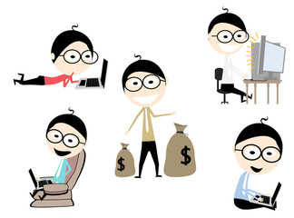 five characters businessman