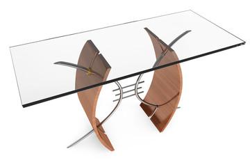 Modern glass table