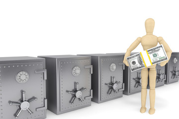 Wooden Dummy and bank safe