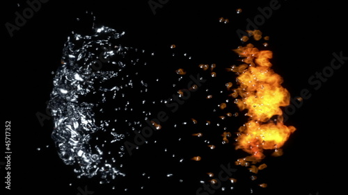Fire and Water Collision