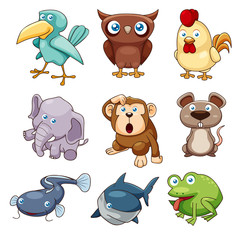 illustration of animals set Vector