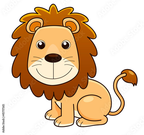 illustration of Lion cartoon Vector