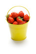 Yellow Bucket with Strawberries