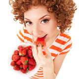 Fototapeta deser - jeść - Kobieta