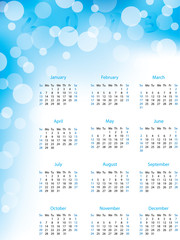 Abstract bubble 2013 calendar