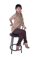 Beautiful Woman Posing on a Chair