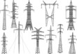 eleven electric pylons collection