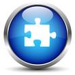 Puzzle Button Blau