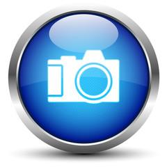 Kamera Button Blau