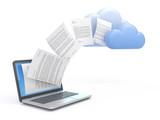 Fototapety Transferring data to a cloud.