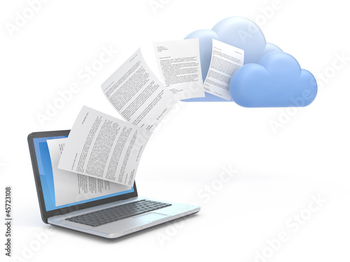 Transferring data to a cloud.