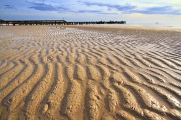 sand ripples at the huahin beach, Thailand