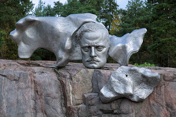 Metal sculpture of the Finnish composer Jean Sibelius, Helsinki