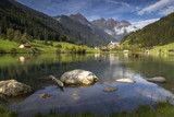 Fototapety Bergpanorama in Südtirol mit Blick auf Mühlwald