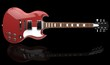 Solid Red Metallic Guitar